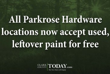 All Parkrose Hardware locations now accept used, leftover paint for free