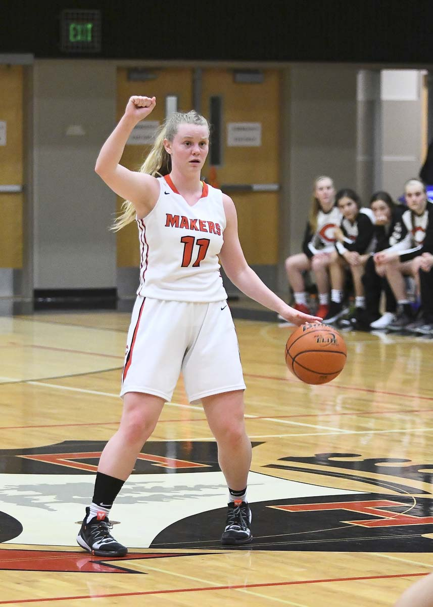"Haley Hanson used to be a leader but became ""The Leader"" this season, helping Camas to a third consecutive league title. Photo courtesy Kris Cavin"