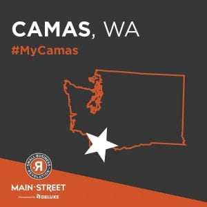 Twelve thousand towns from across the U.S. submitted nominations for the Small Business Revolution Main Street competition, and now Camas is just days away from finding out if they will make it into the Top 5. Image courtesy of Downtown Camas Association