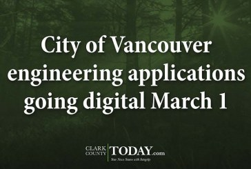 City of Vancouver engineering applications going digital March 1
