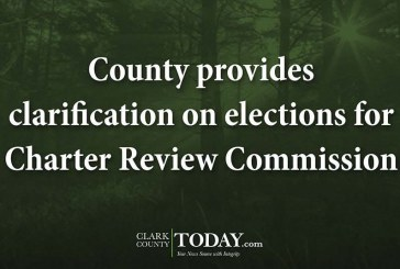 County provides clarification on elections for Charter Review Commission