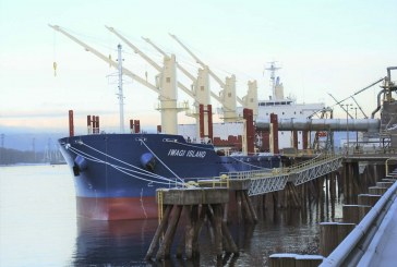 Japanese vessel Iwagi Island calls Port of Vancouver on her maiden voyage