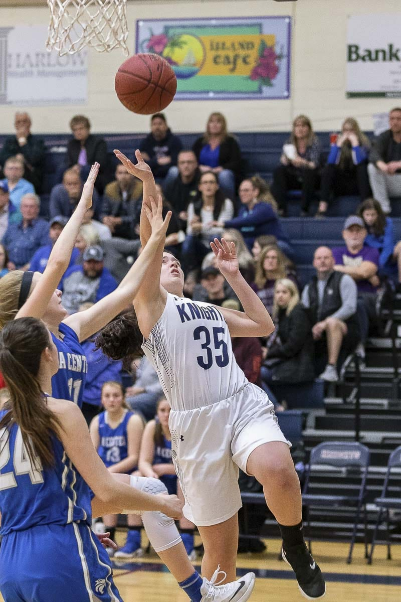 Lacey Zook scored a team-high 15 points Thursday, helping help King's Way Christian beat La Center. Photo by Mike Schultz