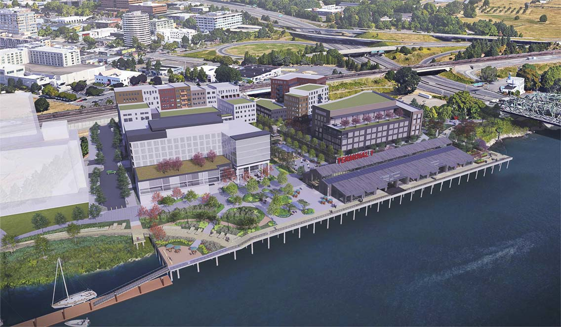 The Port of Vancouver USA is seeking proposals from development firms interested in designing, permitting, constructing and managing a mixed-used development on a portion of the port's 10-acre site on the Columbia River in Vancouver. Photo courtesy of Port of Vancouver USA