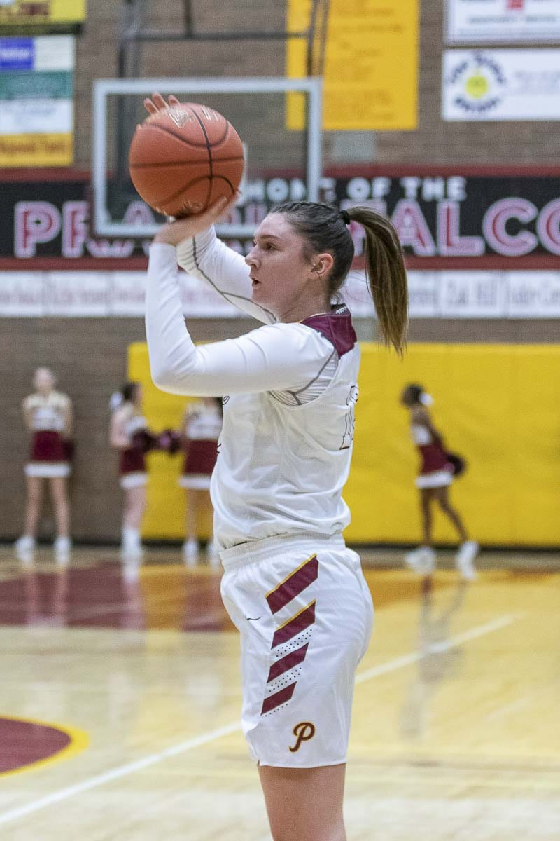 Brooke Walling of Prairie, shown here earlier this season, was 5 for 11 from 3-point range in Thursday's state quarterfinal win over Edmonds-Woodway. Walling finished with 21 points. Photo by Mike Schultz