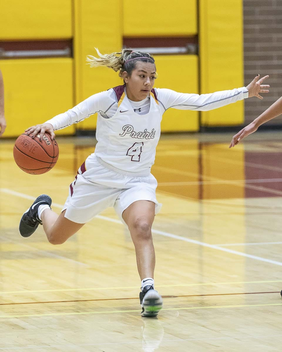 Allison Corral scored 10 points to help Prairie cruise into the Class 3A bi-district semifinals. Photo by Mike Schultz