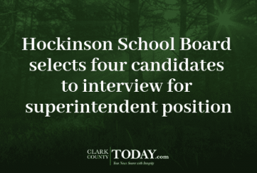 Hockinson School Board selects four candidates to interview for superintendent position
