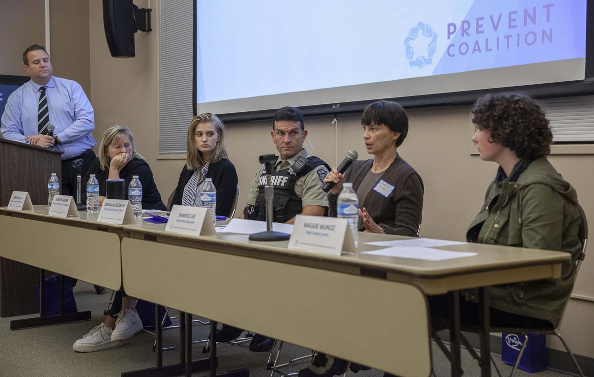 Prevent Coalition's vaping panel answers final questions from the audience on Jan. 30. Photo by Jacob Granneman
