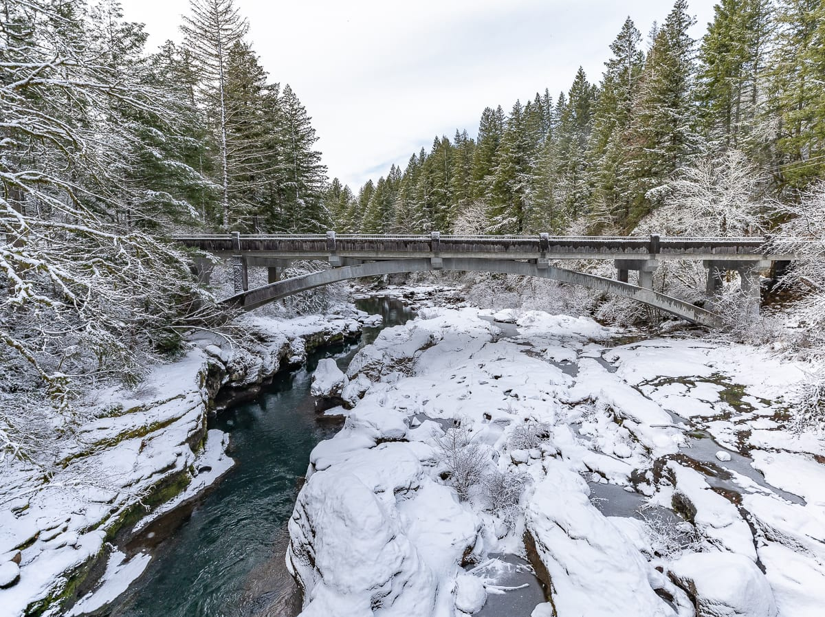 Heisson Bridge in the snow. Photo by Mike Schultz