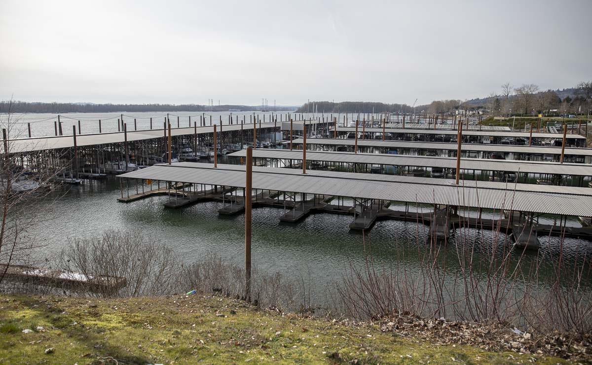 The Port of Camas-Washougal's marina, seen here, will receive some updates to its ramps and breakwater dock when development of the surrounding area begins in earnest. Photo by Jacob Granneman