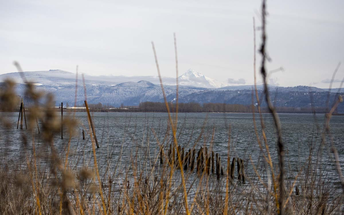 The view of Mt. Hood across the Columbia River, as seen from Washougal's Waterfront Park. The Port's future development is expected to include residential structures, with views like this for many of them. Photo by Jacob Granneman