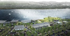 A computer rendering of what the Parker's Landing waterfront development could look like when The Port finishes construction. Courtesy of The Port of Camas-Washougal