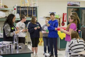 Woodland Middle School students learn how dropping out of high school could affect their future