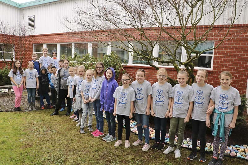 Yacolt Primary School's fourth grade leaders are shown here. Photo courtesy of Battle Ground School District
