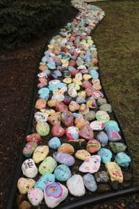 "Every student in Yacolt Primary School painted one of their own unique ""kindness rocks"" for a recent project, which is just one piece of a school-wide kindness and positivity initiative recently launched. Photo courtesy of Battle Ground School District"