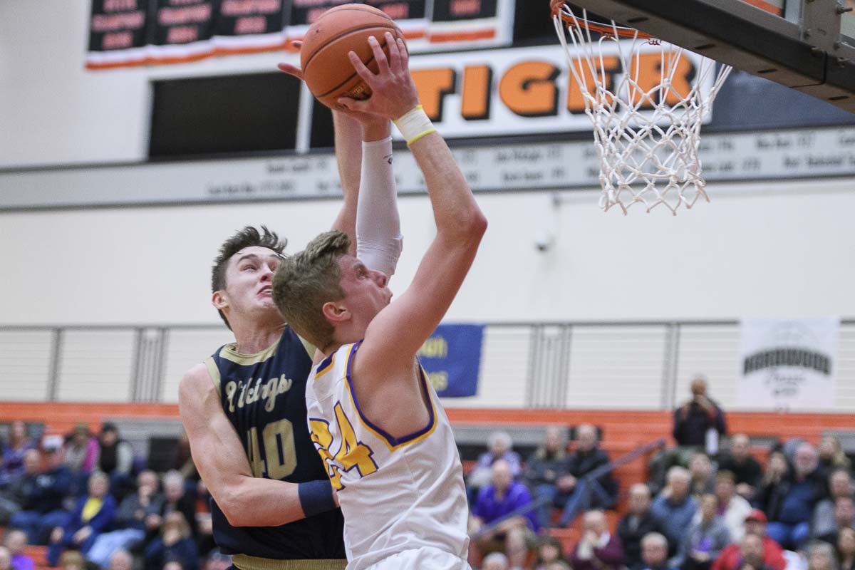 Jack Armstrong ended up with 15 points for Columbia River in Saturday's loss. He also was strong on defense, against one of the top players in the state. Photo by Ken Waz