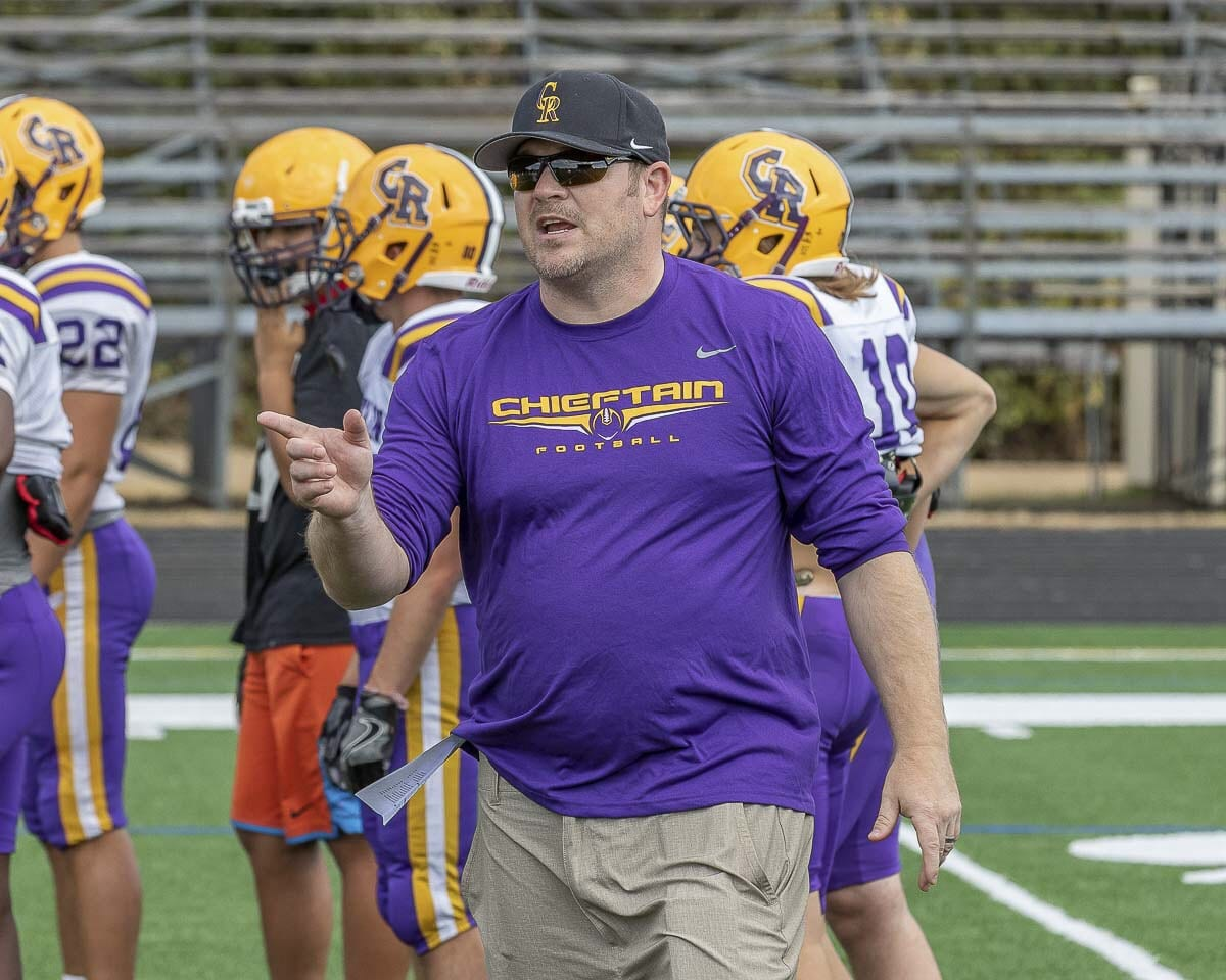 Christian Swain will be changing colors and changing sides of town, moving from the west to the east. Swain has been named the new head coach at Evergreen High School. He coached Columbia River the past three seasons. Photo by Mike Schultz