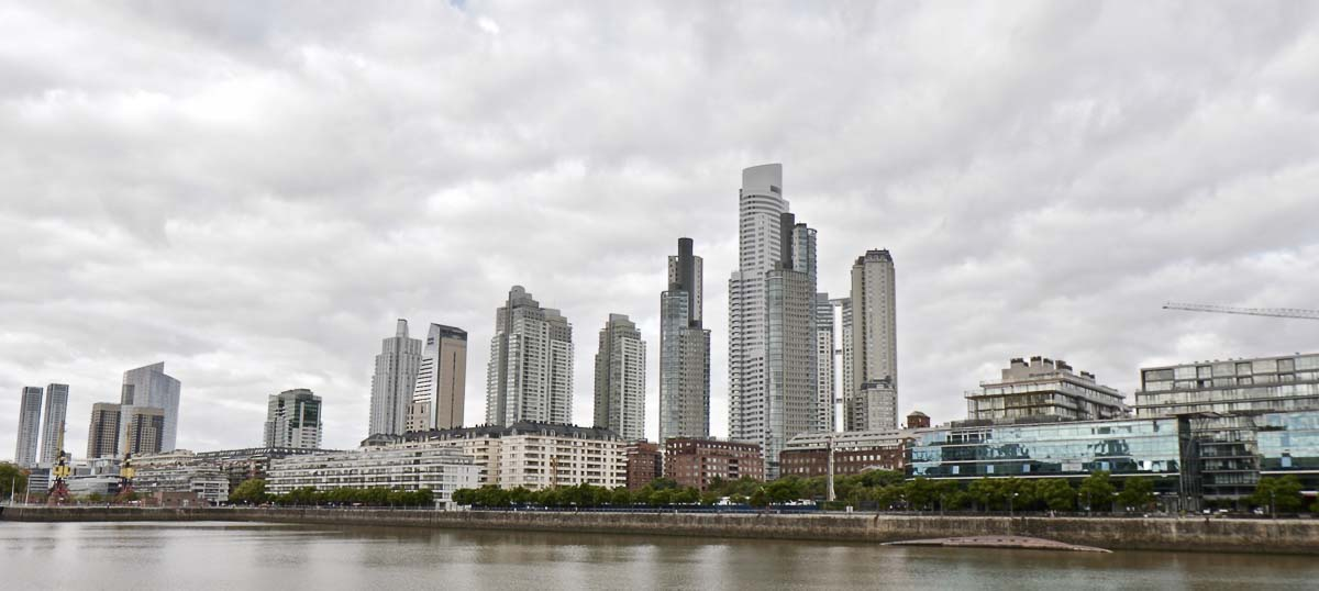 The Buenos Aires skyline. The tallest building is over 770 feet high. Photo by Jacob Granneman, Courtesy of Compassion To Action