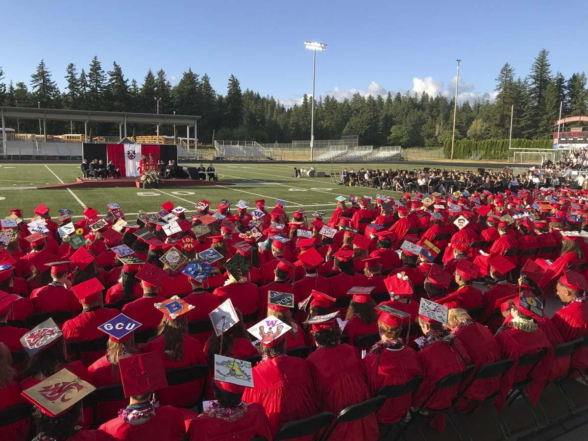 Camas High School 2018 Graduation ceremony. Photo courtesy of Lacamas Magazine