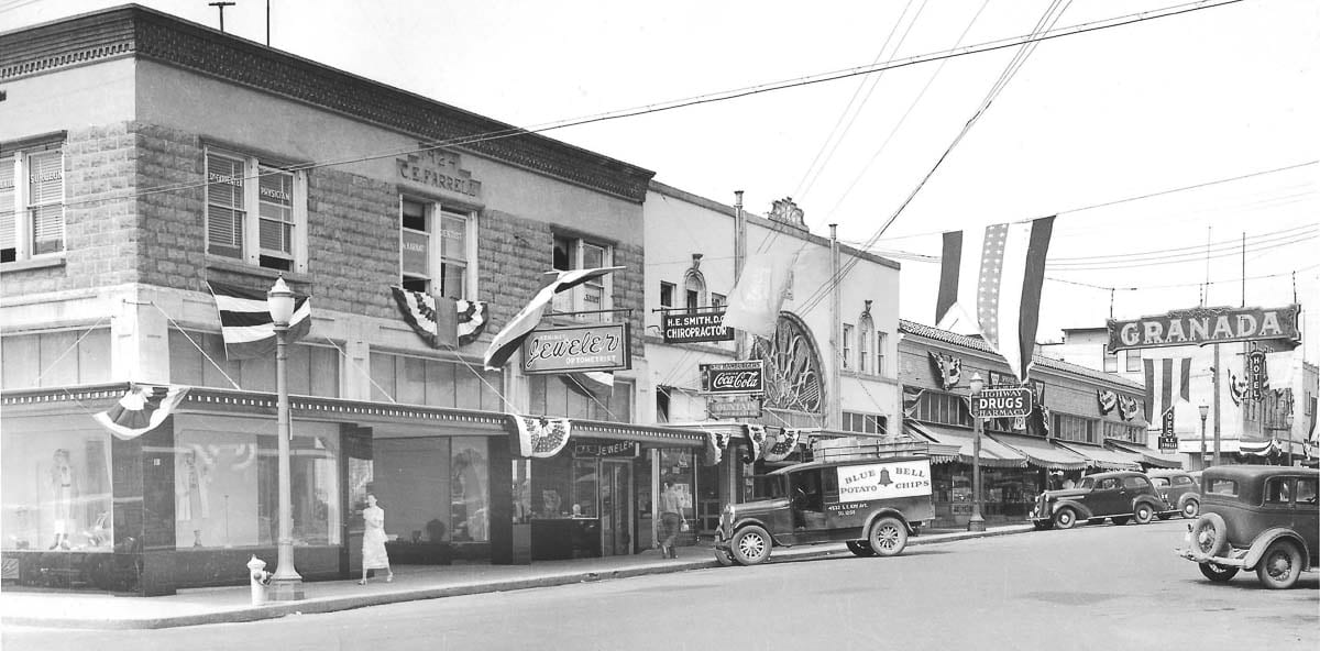 The Farrell Building in downtown Camas is shown in this photo from the early 1930s. Photo courtesy of Downtown Camas Association