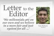 Letter to the editor: 'We millennials are on our own and we believe in a more fair and just system for all …'
