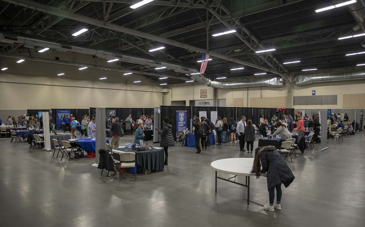 The Youth Employment Summit for 2019 was held inside the Clark County Event Center, and hosted over 60 companies from a variety of industries in the region. Photo by Jacob Granneman