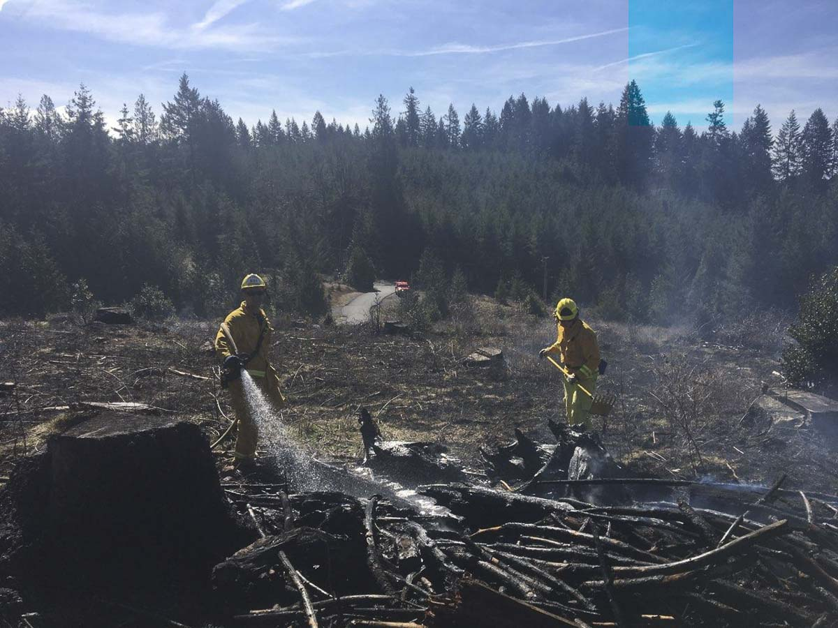 Clark County Fire District 3 has responded to four wildland fires this week, all associated with high winds and dry fuel conditions. Photo courtesy of Fire District 3