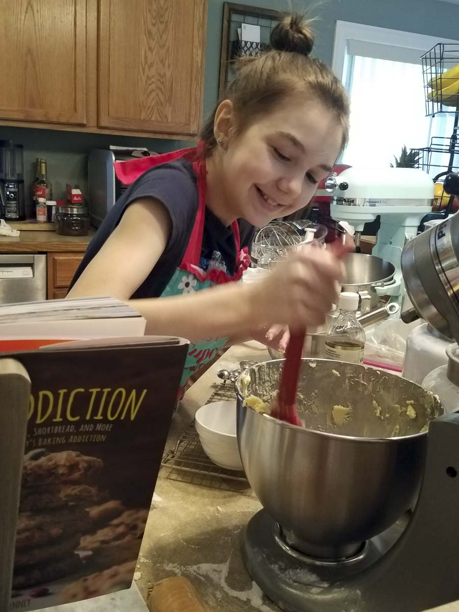 Dakota Wilcox, 11, a student at Woodland Middle School, baked and sold sugar cookie bars to raise more than $600 for her little brother's special education preschool program. Photo courtesy of Woodland Public School