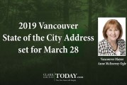 2019 Vancouver State of the City Address set for March 28