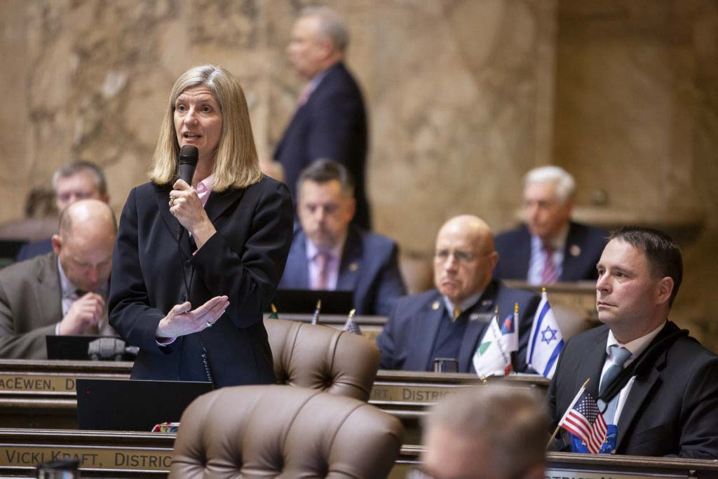 The state House of Representatives passed a bill Wednesday by 17th District State Rep. Vicki Kraft that would make it harder for illicit massage parlors to blend in and operate. Photo courtesy of Washington State House Republican Communications