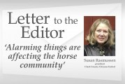 Letter to the editor: 'Alarming things are affecting the horse community'