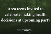 Area teens invited to celebrate making health decisions at upcoming party