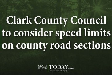 Clark County Council to consider speed limits on county road sections
