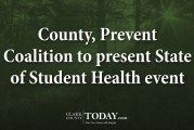 County, Prevent Coalition to present State of Student Health event