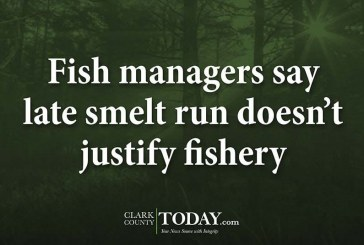 Fish managers say late smelt run doesn't justify fishery