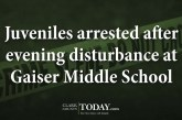 Juveniles arrested after evening disturbance at Gaiser Middle School