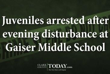 Juveniles arrested after evening disturbance at Gaiser Middle School