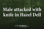 Male attacked with knife in Hazel Dell