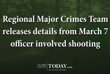 Regional Major Crimes Team releases details from March 7 officer involved shooting