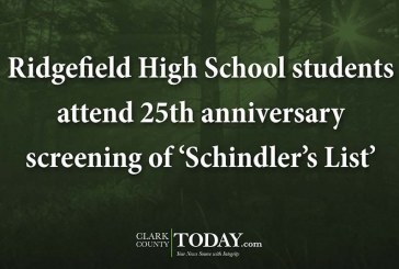 Ridgefield High School students attend 25th anniversary screening of 'Schindler's List'
