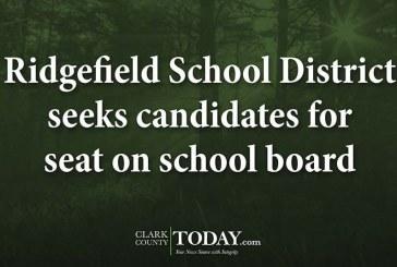 Ridgefield School District seeks candidates for seat on school board
