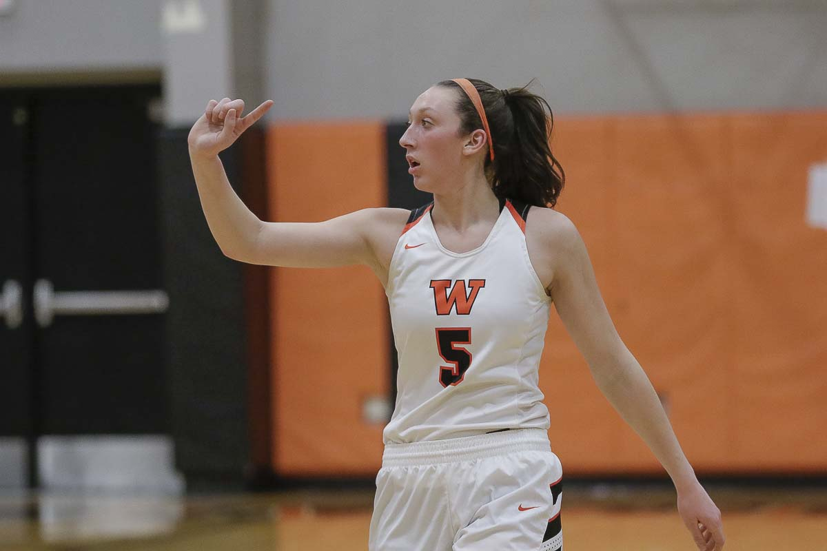 Washougal's Beyonce Bea knows the Panthers need just one more win to claim a state championship. Bea, shown here earlier in the season, had 21 points and 15 rebounds, leading Washougal to a win in the state semifinals Friday. Photo by Mike Schultz