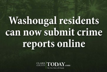 Washougal residents can now submit crime reports online