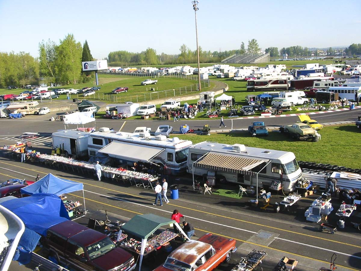 Clark County residents won't have to travel far to attend the 14th annual Portland International Raceway (PIR) Auto Swap Meet, which will return to the racetrack at 1940 North Victory Blvd., running from Thu., April 4 to Sat., April 6. Photo courtesy of Crabbsoup PR