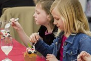 Woodland third graders learn proper table manners