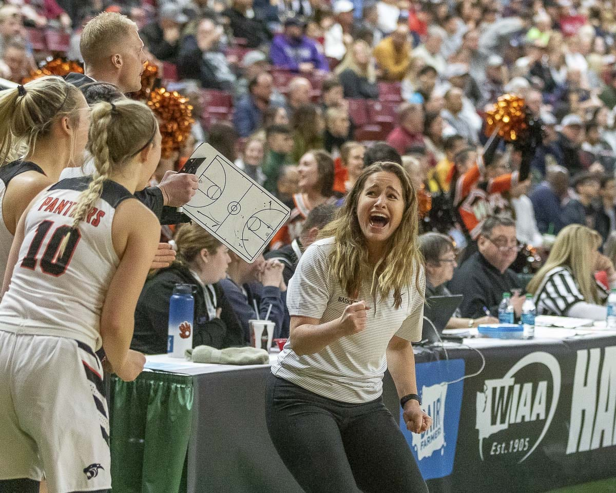 Washougal coach Britney Knotts is a state champion in her second year in charge of the program. Photo by Mike Schultz