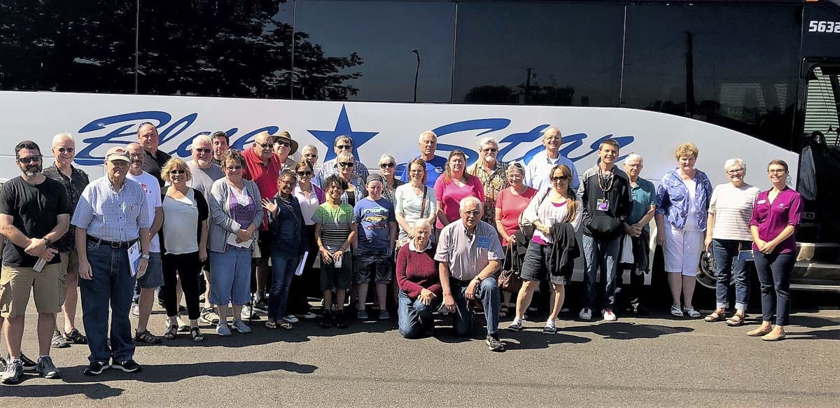 A Port of Vancouver public tour group is shown here in this August 2018 photo. Photo courtesy of Port of Vancouver USA