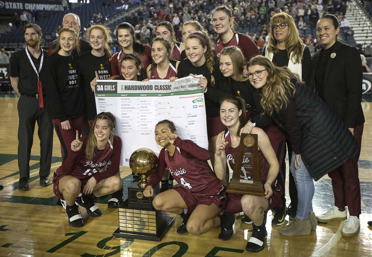 This is Prairie's seventh state championship in girls basketball. Photo by Patrick Hagerty