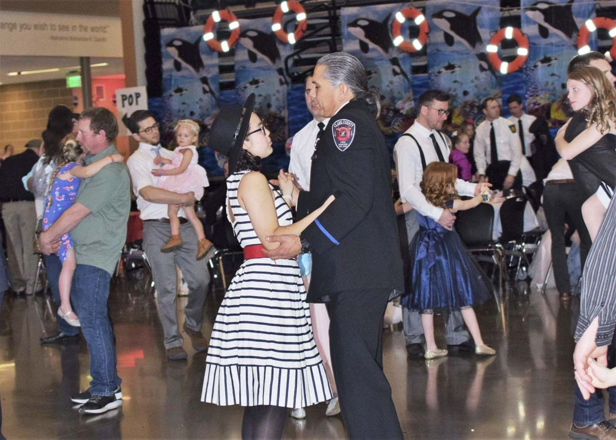 "The Woodland Father/Daughter Ball has become so popular that it has been divided into two scheduled ""Balls.'' The early Ball had more than 400 attendees this year and the late Ball hosted over 700 attendees. Photo provided by Grace Community Church"