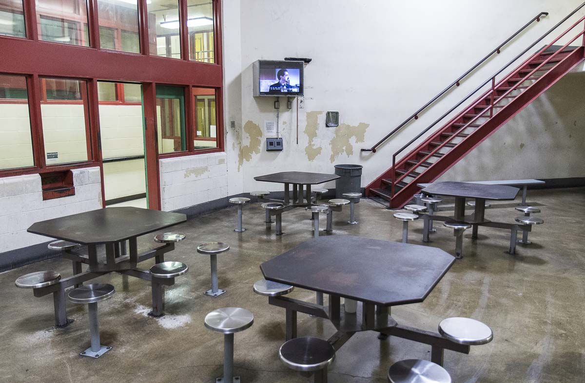 An inmate visitation area inside the Clark County Jail. Photo courtesy Clark County Sheriff's Office